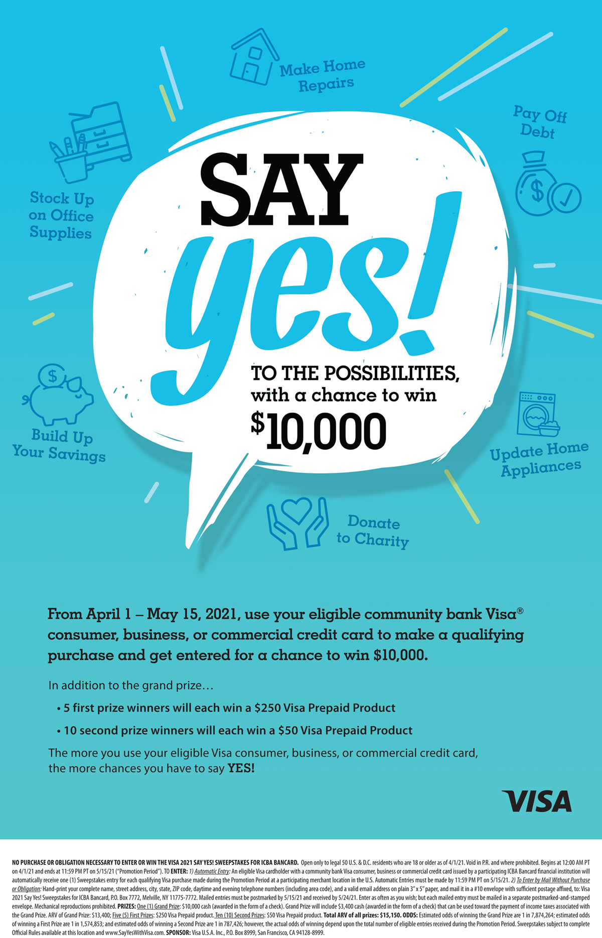Say Yes Branch Poster